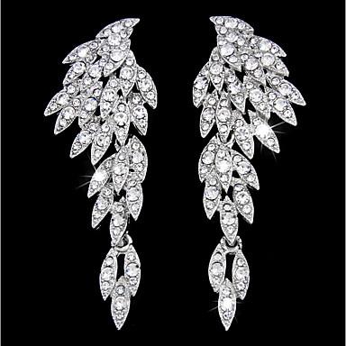 levne Dámské šperky-Dámské Visací náušnice houpat náušnice Luxus Elegantní Umělé diamanty Náušnice Šperky Zlatá / Stříbrná Pro Svatební Párty Zásnuby Dar Klub 1 Pair