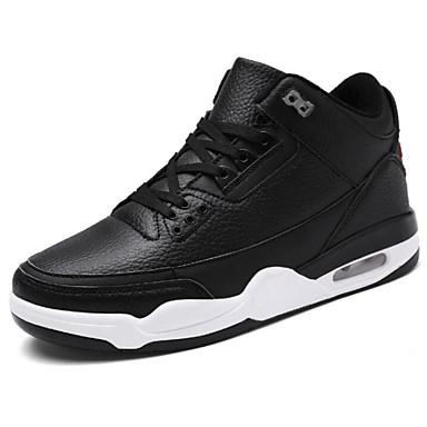 สำหรับผู้ชาย รองเท้าสบาย ๆ หนังเทียม ฤดูใบไม้ร่วง & ฤดูหนาว รองเท้ากีฬา บาสเกตบอล สีดำ / สีดำและสีขาว / ขาวและน้ำเงิน