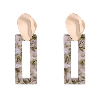 สำหรับผู้หญิง Drop Earrings ต่างหู ต่างหูห้อย ง่าย เกี่ยวกับยุโรป แฟชั่น ต่างหู เครื่องประดับ ขาว / สีดำ / สีเขียว สำหรับ ปาร์ตี้ ของขวัญ ทุกวัน ทำงาน เทศกาล 1 คู่