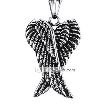 levne Dámské šperky-Pánské Náhrdelníky s přívěšky Klasika Anděl Módní Nerez Stříbrná 50 cm Náhrdelníky Šperky 1ks Pro Dar Denní