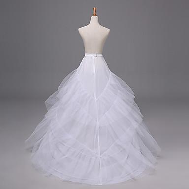 เจ้าสาว โลลิต้าแบบคลาสสิก 1950s หนึ่งชิ้น ชุดเดรส Petticoat กระโปรงผายก้น สำหรับผู้หญิง เด็กผู้หญิง ตูเล่ เครื่องแต่งกาย ขาว Vintage คอสเพลย์ ปาร์ตี้ Performance เจ้าหญิง
