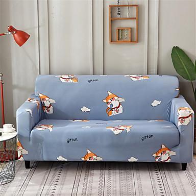 การ์ตูนแมวทนทานยืดหยุ่นสูง slipcovers ยืดโซฟาปกแปนเด็กซ์ล้างทำความสะอาดได้ที่นอนครอบคลุม