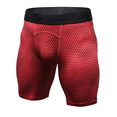 YUERLIAN สำหรับผู้ชาย กางเกงขาสั้นรัดรูป ลายพิมพ์ สีดำ ขาว แดง ฟ้า Rough Black วิ่ง การออกกำลังกาย ยิมออกกำลังกาย ชุดชั้นใน กีฬา ชุดทำงาน Lightweight ระบายอากาศ แห้งเร็ว Sweat-wicking ความยืดหยุ่นสูง