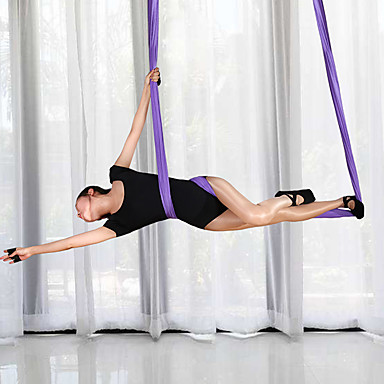 โยคะ เปลญวน Resistance Bands 1 cm ขนาด กีฬา Tactel โยคะ Pilates กีฬา ปรับความยาวได้ การฝึก สำหรับ ทุกเพศ ห้องฟิตเนส