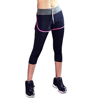 สำหรับผู้หญิง กางเกงโยคะ ลายบล็อคสี Elastane วิ่ง เต้นรำ การออกกำลังกาย 3/4 ถุงน่อง ชุดทำงาน ระบายอากาศ แห้งเร็ว Sweat-wicking Power Flex ความยืดหยุ่นสูง สกินนี่