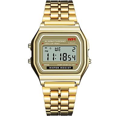 ieftine Ceasuri pătate și dreptunghiulare-Pentru femei Ceas digital Piața de ceas Sclipici Modă Negru Argint Auriu Oțel inoxidabil Silicon Chineză Piloane de Menținut Carnea Negru Negru+Alb Auriu Cronograf Iluminat Ceas Casual 1 piesă