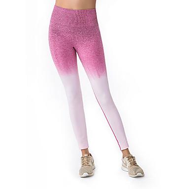 สำหรับผู้หญิง กางเกงโยคะ Color Gradient สีม่วง สีเขียว Peach สีเทา วิ่ง การออกกำลังกาย ยิมออกกำลังกาย ถุงน่องการขี่จักรยาน กีฬา ชุดทำงาน Moisture Wicking Seamless ยืด เพรียวบาง / ฤดูหนาว
