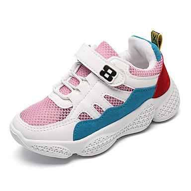 เด็กผู้ชาย / เด็กผู้หญิง ความสะดวกสบาย ตารางไขว้ รองเท้าผ้าใบ เด็กวัยหัดเดิน (9m-4ys) / เด็กน้อย (4-7ys) / Big Kids (7 ปี +) วสำหรับเดิน ขาว / สีเหลือง / สีชมพู ฤดูร้อน / ยาง