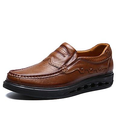 Ανδρικά Δερμάτινα παπούτσια Συνθετικά Άνοιξη / Φθινόπωρο Μοκασίνια & Ευκολόφορετα Αναπνέει Ανοικτό Καφέ / Σκούρο καφέ
