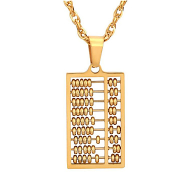 cheap Pendant Necklaces-Men's Pendant Necklace Classic Lucky Fashion Stainless Steel Gold 50 cm Necklace Jewelry 1pc For Gift Daily