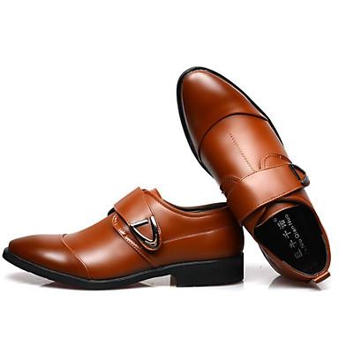 สำหรับผู้ชาย รองเท้าสบาย ๆ Microfibre ฤดูใบไม้ผลิ รองเท้า Oxfords สีดำ / สีน้ำตาล / ขาว