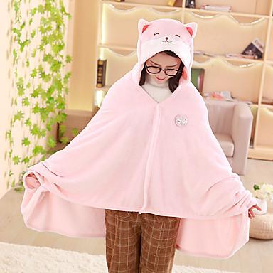 ผู้ใหญ่ เสื้อคลุม Kigurumi Pajama Bear หมีเท็ดดี้ Onesie Pajama ปะการัง Velve สีชมพู / สีน้ำตาล คอสเพลย์ สำหรับ ผู้ชายและผู้หญิง สัตว์ชุดนอน การ์ตูน Festival / Holiday เครื่องแต่งกาย