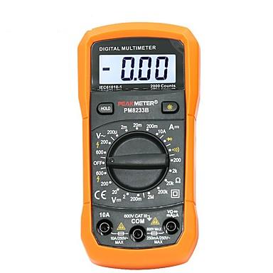 billige Test-, måle- og inspeksjonsverktøy-digital multimeter tester 2000 teller lcd display multimetro dc ac voltmeter frekvens bærbar tester pm8233d