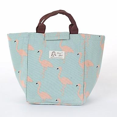 preiswerte Schuhe und Taschen-Baumwolle Muster / Druck Lunchpaket Alltag Weiß / Blasses Blau / Rosa