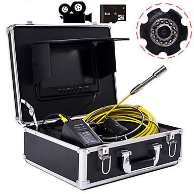 levne Mikroskopy a endoskopy-23 mm objektiv průmyslový endoskop 20m pracovní délka 9-palcový displej s videokamerou funkce auto opravy inspekce potrubí opravy