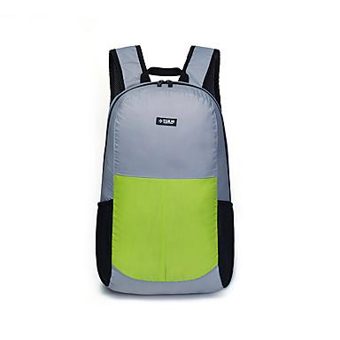 TULN® 25 L กระเป๋าเป้สะพายหลังน้ำหนักเบา Packable Lightweight YKK Zipper ที่อัดแน่น packable กลางแจ้ง การเดินเขา การเดินทาง การออกกำลังกาย ไนลอน สีเทา