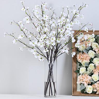 ดอกไม้ประดิษฐ์ 1 สาขา คลาสสิก เกี่ยวกับยุโรป สไตล์เรียบง่าย ดอกไม้นิรันดร์ ดอกไม้วางบนโต๊ะ
