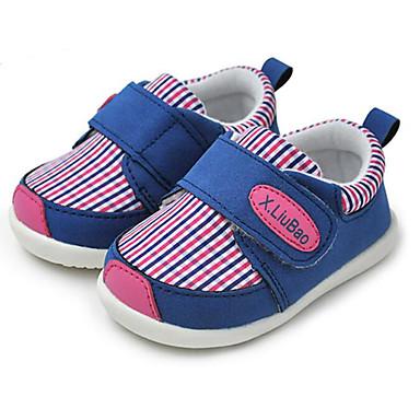 voordelige Babyschoenentjes-Meisjes Comfortabel / Eerste schoentjes Katoen Sneakers Peuter (9m-4ys) Oranje / Fuchsia / Blauw Lente
