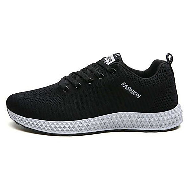 สำหรับผู้ชาย รองเท้าสบาย ๆ ตารางไขว้ ฤดูร้อนฤดูใบไม้ผลิ รองเท้ากีฬา สำหรับวิ่ง สีดำ / สีดำและสีขาว / สีดำ / สีแดง / การกรีฑา