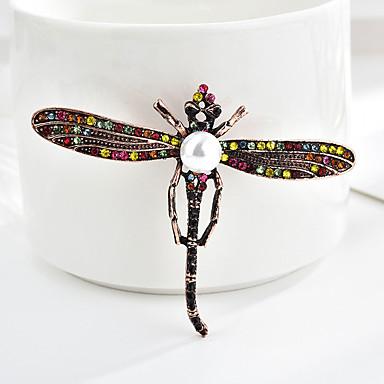 สำหรับผู้หญิง เข็มกลัด คลาสสิค แมลงปอ Animal Cartoon หวาน แฟชั่น สไตล์พื้นบ้าน เข็มกลัด เครื่องประดับ หลากสี สีน้ำตาลอ่อน สำหรับ การสำเร็จการศึกษา ของขวัญ ทุกวัน เทศกาลคานาวาล เทศกาล