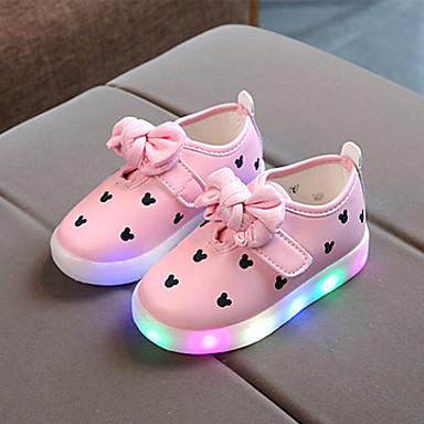 preiswerte Schuhe für Kinder-Mädchen Komfort PU Sneakers Kleinkind (9m-4ys) / Kleine Kinder (4-7 Jahre) Schleife Weiß / Schwarz / Rosa Frühling / Herbst / Gummi
