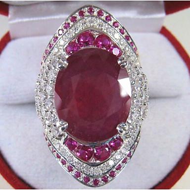 levne Dámské šperky-Dámské Zásnubní prsten Akvamarín 1ks Červená Měď Geometric Shape stylové Luxus Párty Zásnuby Šperky Klasika Radost Cool