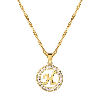 สำหรับผู้หญิง ล้าง Cubic Zirconia สร้อยคอจี้ สร้อยคอ Charm Necklace X ลายตัวอักษร ง่าย แฟชั่น ทองชุบ 18K ทองเหลือง Platinum Plated สีดำ สีเงิน Rose Gold 55 cm สร้อยคอ เครื่องประดับ 1pc สำหรับ