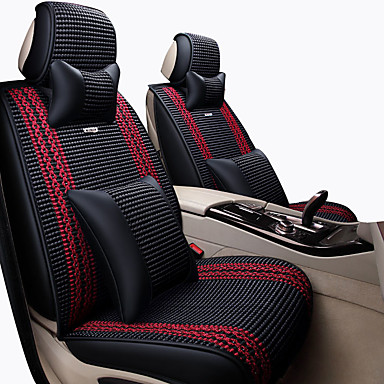 Car Seat Covers ชุดเบาะรองศีรษะและเอว สีเทา / กาแฟ / ฟ้า ใยสังเคราะห์ ธุรกิจ สำหรับ Universal ทุกปี General Motors