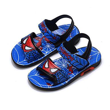 เด็กผู้ชาย ความสะดวกสบาย หนังเทียม รองเท้าแตะ เด็กวัยหัดเดิน (9m-4ys) / เด็กน้อย (4-7ys) สีดำ / สีน้ำเงินกรมท่า ฤดูร้อน