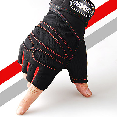 povoljno Motori i quadovi-Half-prst Muškarci Moto rukavice Vlakno / Prozračna mrežica Prozračnost / Quick dry