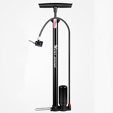 billige Sykkeltilbehør-WEST BIKING® Bike Floor Pump med måler Bærbar Lettvekt Holdbar Høytrykk Presis oppblåsning Til Vei Sykkel Fjellsykkel Sykling Stållegering Svart Blå