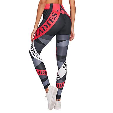 สำหรับผู้หญิง สูงกว่าปกติ กางเกงโยคะ แฟชั่น สีดำ ขาว วิ่ง การออกกำลังกาย ถุงน่องการขี่จักรยาน กีฬา ชุดทำงาน นุ่ม Butt Lift ผสมยางยืดไมโคร เพรียวบาง / ฤดูหนาว