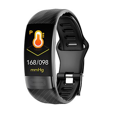 p11 ทุกเพศ สร้อยข้อมือสมาร์ท Android iOS บลูทูธ Waterproof ขอสัมผัส ตรวจสอบอัตรการเต้นของหัวใจ การวัดความดันโลหิต กีฬา คลื่นไฟฟ้าหัวใจ + PPG