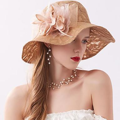 ตูเล่ / ผ้าไหมแก้ว / สุทธิ หมวก / ฮารด์แวร์ กับ ไข่มุกเทียม / เข็มกลัด / ขนนกหรือเฟอร์ 1 ชิ้น งานแต่งงาน / กลางแจ้ง หูฟัง