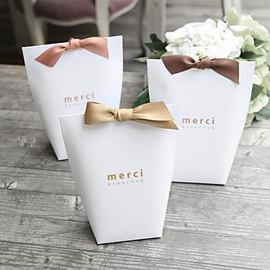 preiswerte Gastgeschenke-Quader Perlenpapier Geschenke Halter mit Satin Schleife / Bänder / Bandverzierungen Haushaltswaren / Geschenk Schachteln - 20