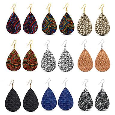 สำหรับผู้หญิง Drop Earrings Tropical หล่น สไตล์โกธิค โบโฮ ต่างหู เครื่องประดับ สายรุ้ง สำหรับ Street บาร์ 9pcs