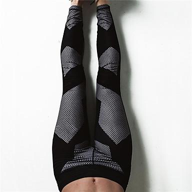 สำหรับผู้หญิง สูงกว่าปกติ กางเกงโยคะ ลายบล็อคสี สแปนเด็กซ์ วิ่ง เต้นรำ การออกกำลังกาย ถุงน่องการขี่จักรยาน เลกกิ้ง ด้านล่าง ชุดทำงาน Moisture Wicking Butt Lift Tummy Control Power Flex ความยืดหยุ่นสูง