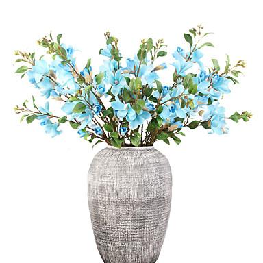 ดอกไม้ประดิษฐ์ 1 สาขา คลาสสิก เกี่ยวกับยุโรป สไตล์เรียบง่าย กล้วยไม้ ดอกไม้นิรันดร์ ดอกไม้วางบนโต๊ะ