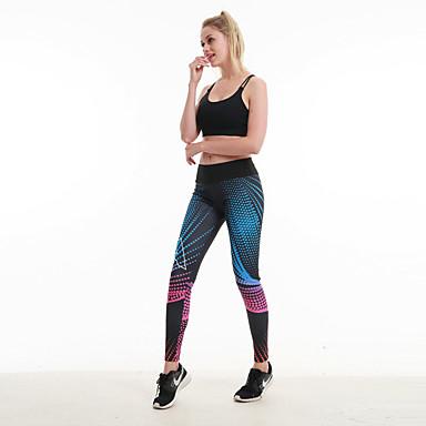 สำหรับผู้หญิง สูงกว่าปกติ กางเกงโยคะ พิมพ์ 3D Elastane วิ่ง การออกกำลังกาย ยิมออกกำลังกาย ถุงน่องการขี่จักรยาน ชุดทำงาน นุ่ม Butt Lift Tummy Control Power Flex ความยืดหยุ่นสูง สกินนี่