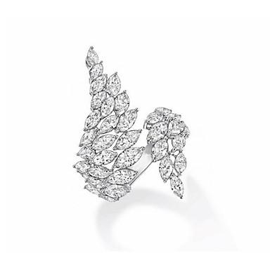 billige Motering-Dame Ring Håndledd Ring Micro Pave Ring Kubisk Zirkonium 1pc Sølv Kobber Stilfull Kunstnerisk Fest Engasjement Smykker X-ring Kul