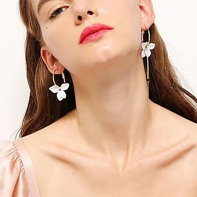 สำหรับผู้หญิง Drop Earrings ที่ไม่ตรงกัน Stylish เรซิน ต่างหู เครื่องประดับ สีทอง สำหรับ ทุกวัน 1 คู่