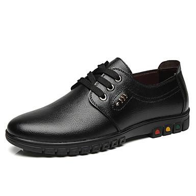 สำหรับผู้ชาย รองเท้าหนัง หนังสัตว์ ฤดูร้อนฤดูใบไม้ผลิ ไม่เป็นทางการ รองเท้า Oxfords วสำหรับเดิน ไม่ลื่นไถล รองเท้าบู้ทหุ้มข้อ สีดำ / สีน้ำตาล / รองเท้าสบาย ๆ