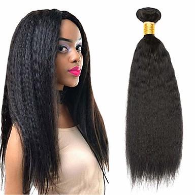 povoljno Ekstenzije od ljudske kose-4 paketića Peruanska kosa Yaki Straight Netretirana  ljudske kose Ljudske kose plete Bundle kose Ekstenzije od ljudske kose 8-28 inch Prirodna boja Isprepliće ljudske kose Odor Free Sexy Lady