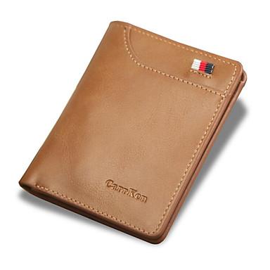 สำหรับผู้ชาย ซิป PU กระเป๋าเงิน สีน้ำตาล / สีเทา / กาแฟ