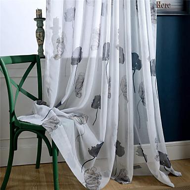 ร่วมสมัย Sheer หนึ่งช่อง Sheer ห้องนั่งเล่น   Curtains