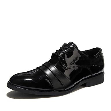 สำหรับผู้ชาย รองเท้าอย่างเป็นทางการ PU ฤดูร้อนฤดูใบไม้ผลิ คลาสสิก / อังกฤษ รองเท้า Oxfords ช็อตดูดซับ สีดำ / กลางแจ้ง