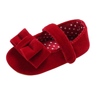 เด็กผู้หญิง ความสะดวกสบาย / สำหรับการเดินครั้งแรก ซาติน รองเท้าส้นเตี้ย เด็กวัยหัดเดิน (9m-4ys) Almond / สีชมพู / สีเทา ฤดูใบไม้ผลิ / ตก