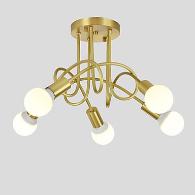 reputable site c663f 8c8bb [$151.49] OYLYW 5-Light Sputnik Chandelier Ambient Light Brass Copper New  Design 110-120V / 220-240V