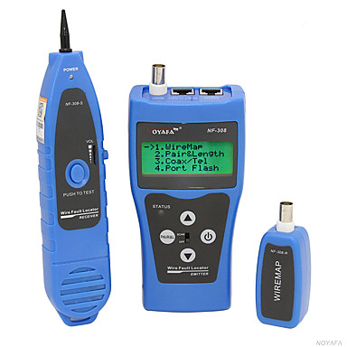 noyafa® nf-308 เครือข่ายอีเธอร์เน็ต tester tracker สำหรับเครือข่ายโทรศัพท์สาย usb โคแอกเชียล