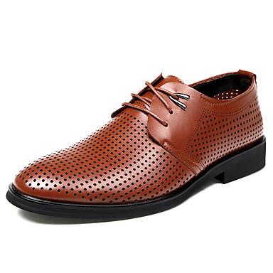สำหรับผู้ชาย รองเท้าอย่างเป็นทางการ Synthetics ตก / ฤดูร้อนฤดูใบไม้ผลิ ธุรกิจ / ไม่เป็นทางการ รองเท้า Oxfords ระบายอากาศ สีดำ / สีน้ำตาล / รองเท้าสบาย ๆ